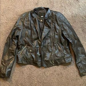 Mossimo Women's Brown Faux Leather Jacket